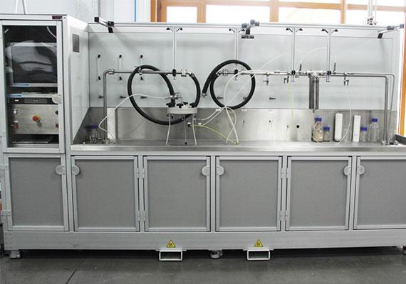 Filter element filtration performance laboratory