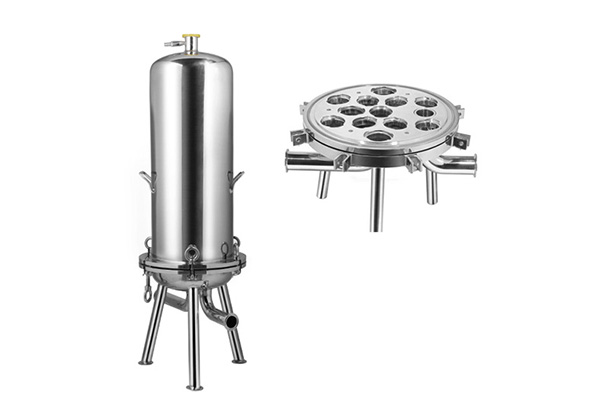 Multi Pleated Filter Cartridge Stainless Steel Filter Housing